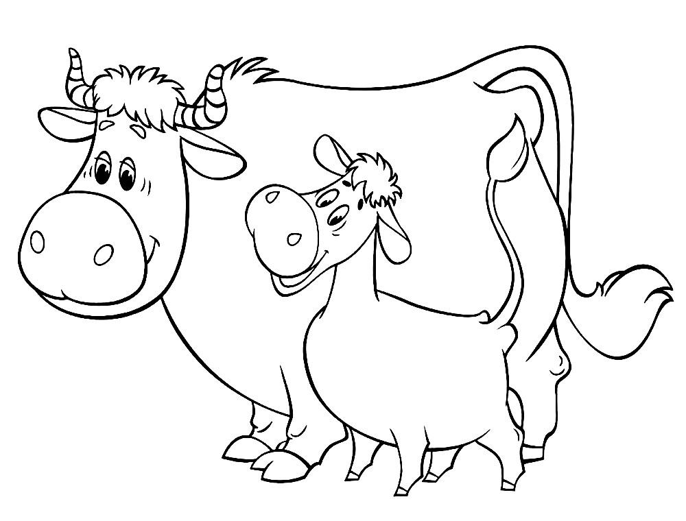 Раскраска коровы из Простоквашино