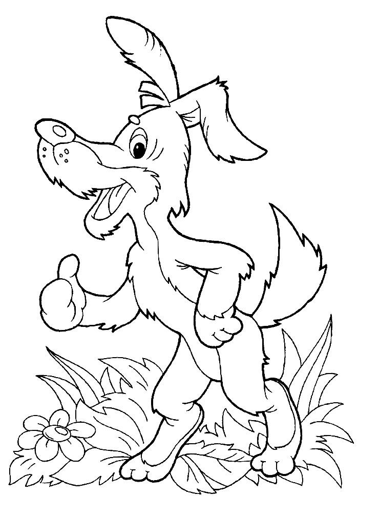 Раскраска пес Шарик из Простоквашино | Раскраски для детей ...