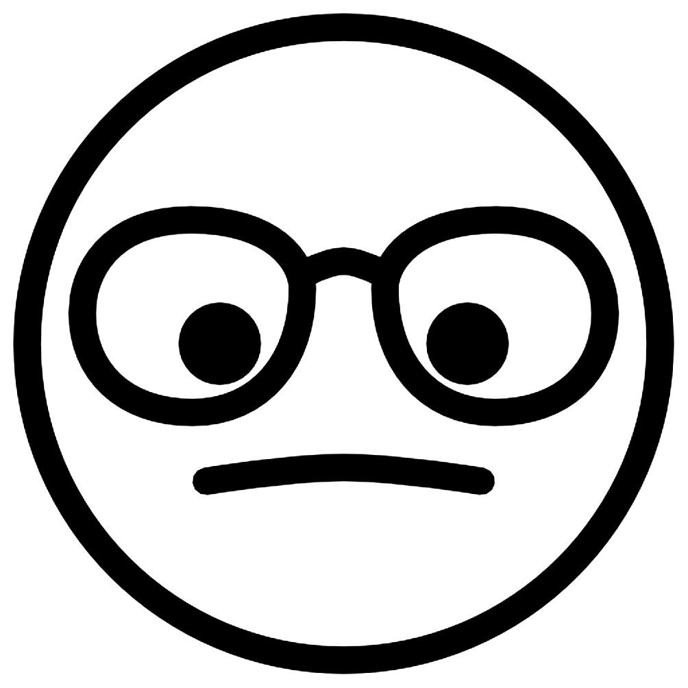 Раскраска смайлик — Я в очках