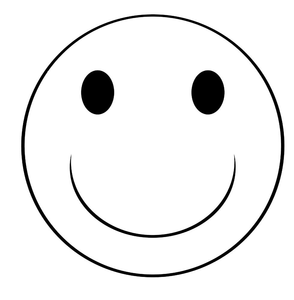 Раскраска смайлик улыбка