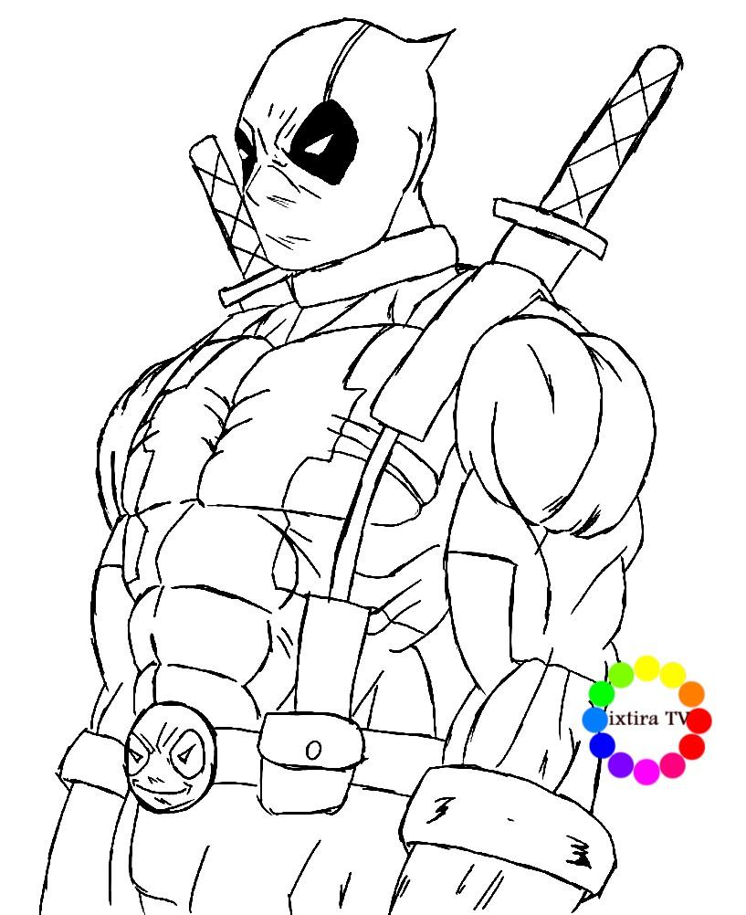 Раскраска Дэдпул — герой из комиксов