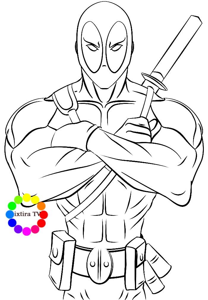 Раскраска Deadpool