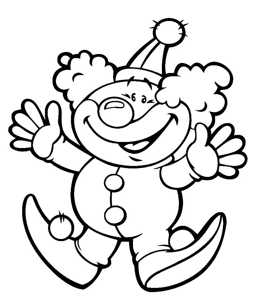 Раскраска клоун для малышей