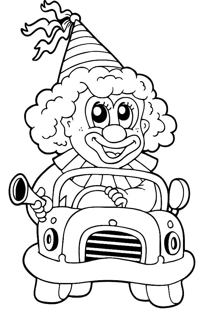 КЛОУН | Раскраски для детей распечатать бесплатно в формате А4