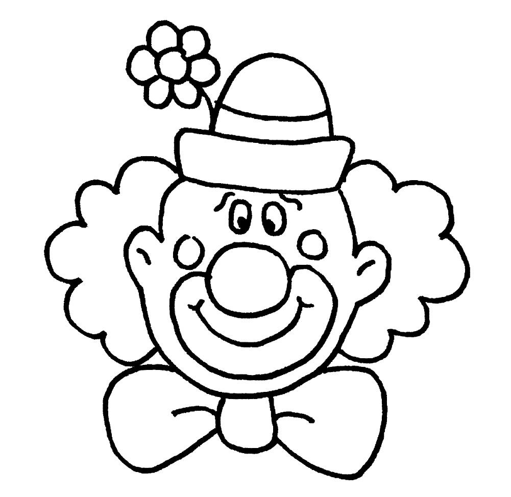 Раскраска портрет клоуна
