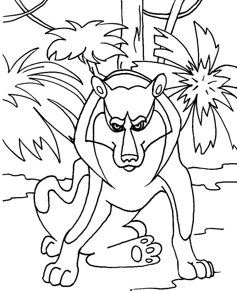 Раскраска волк из Маугли