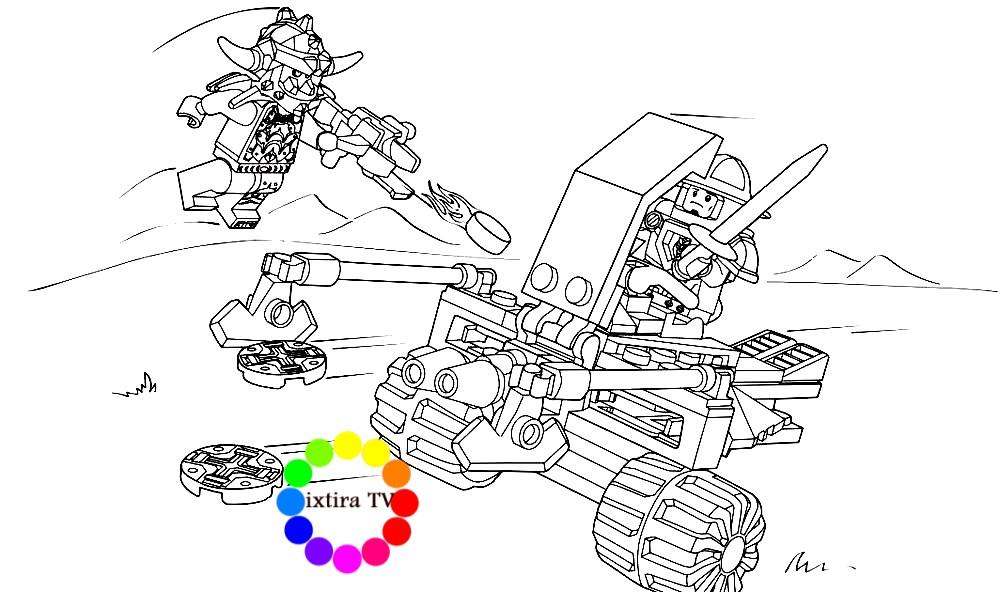 Раскраска Королевский боевой бластер