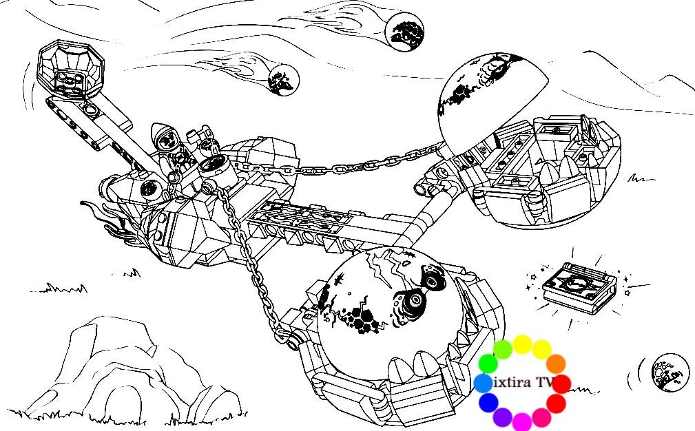 Раскраска безумная колесница укратителя