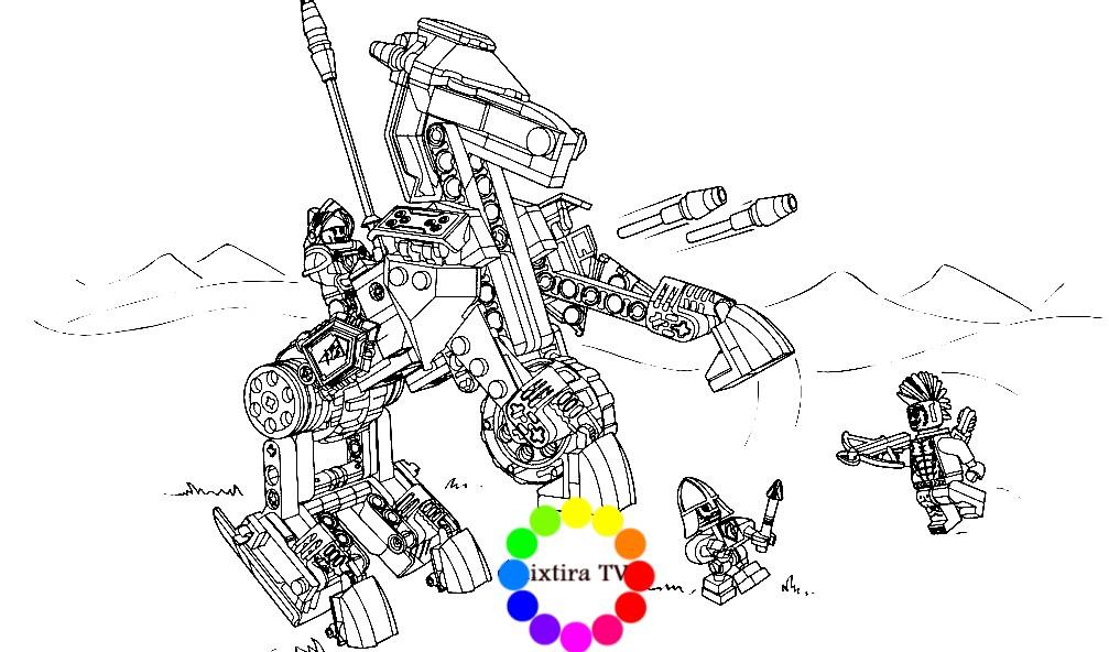 Раскраска механическая лошадь Ленса