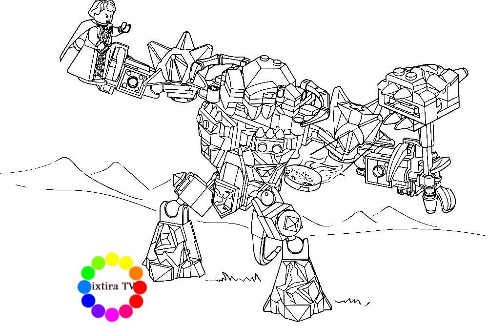 Раскраска Lego Nexo Knights