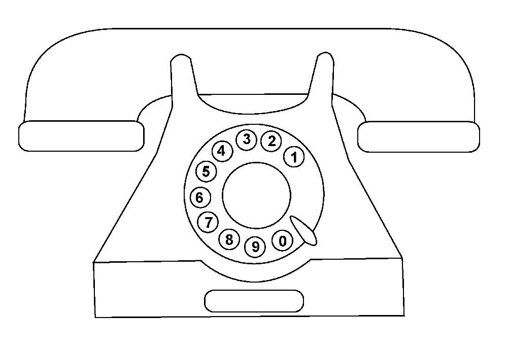 Раскраска стационарный телефон