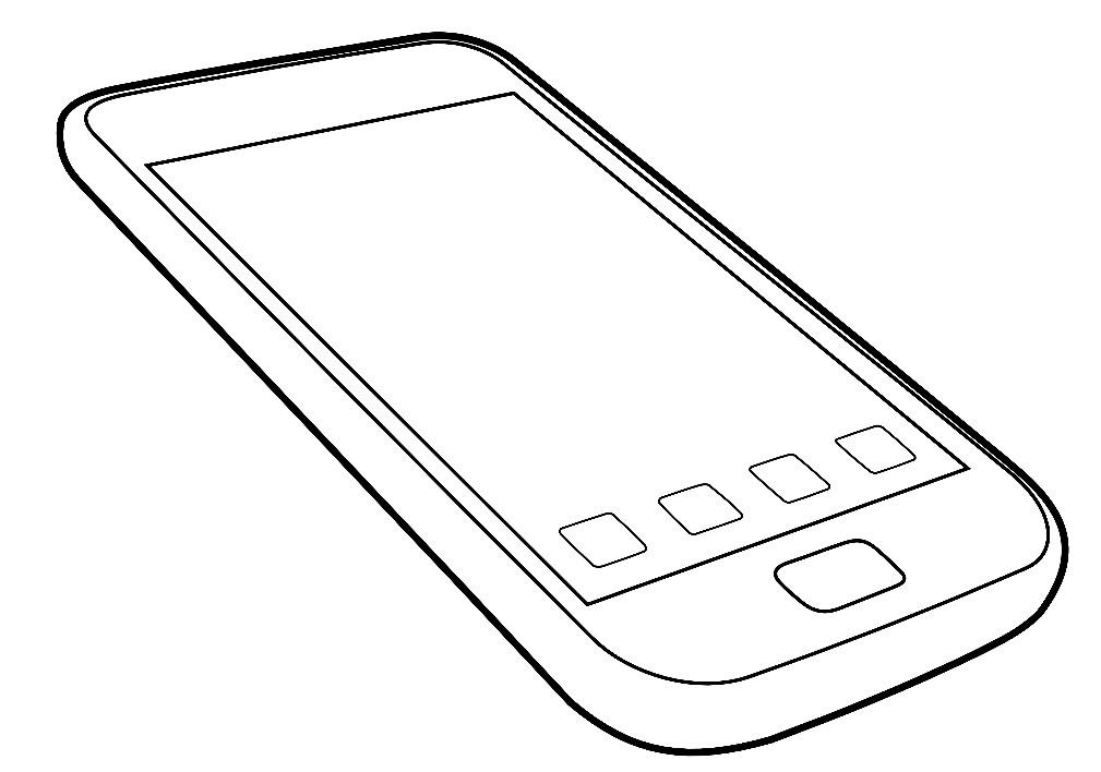 Раскраска современный телефон