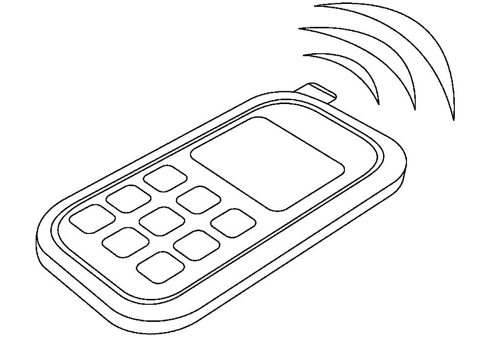 Раскраска мобильный телефон