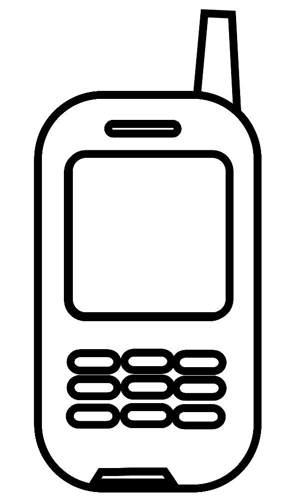 Раскраска игрушечный телефон