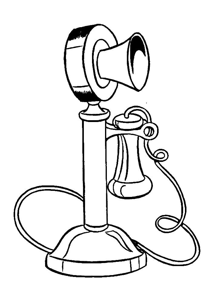 Раскраска телефон Эдисона