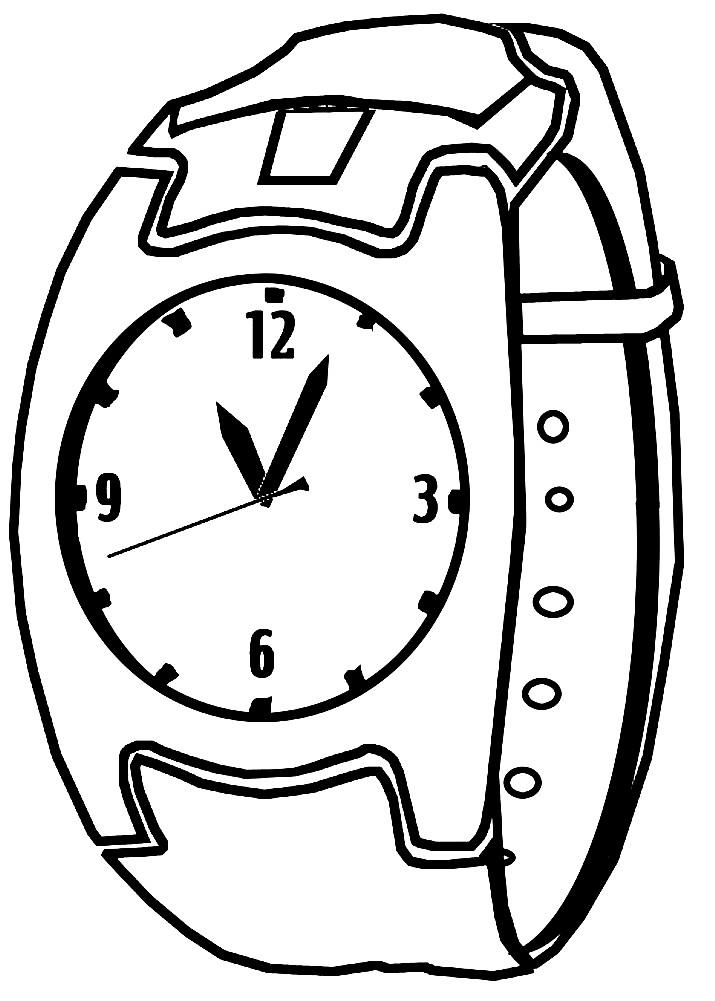 Раскраска ручные часы