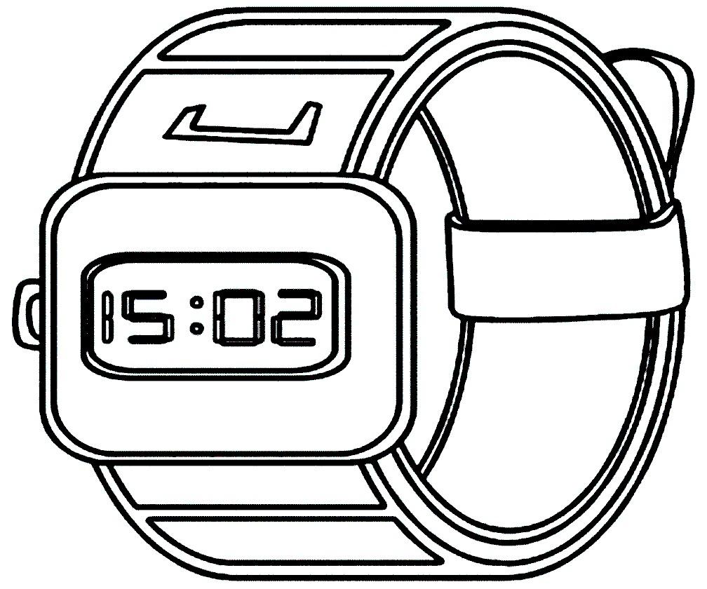 Раскраска ручные электронные часы