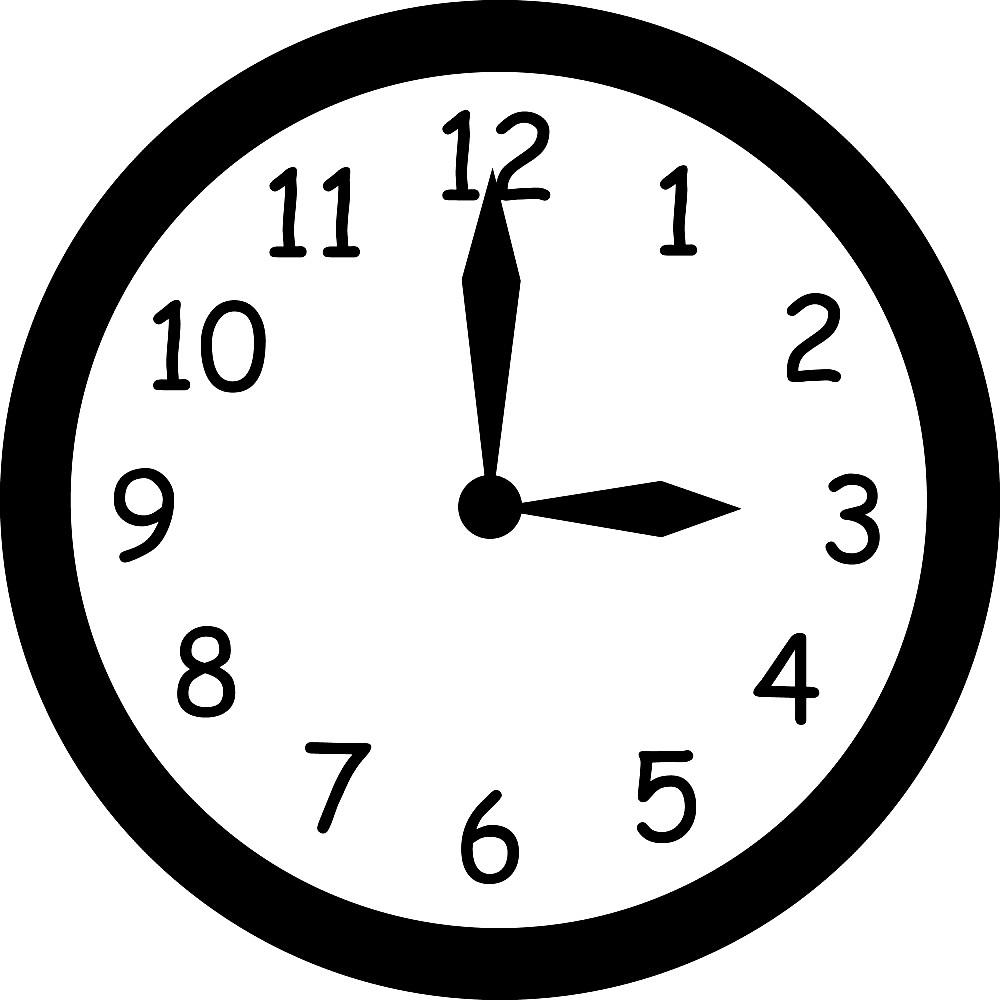 Раскраска настенные часы