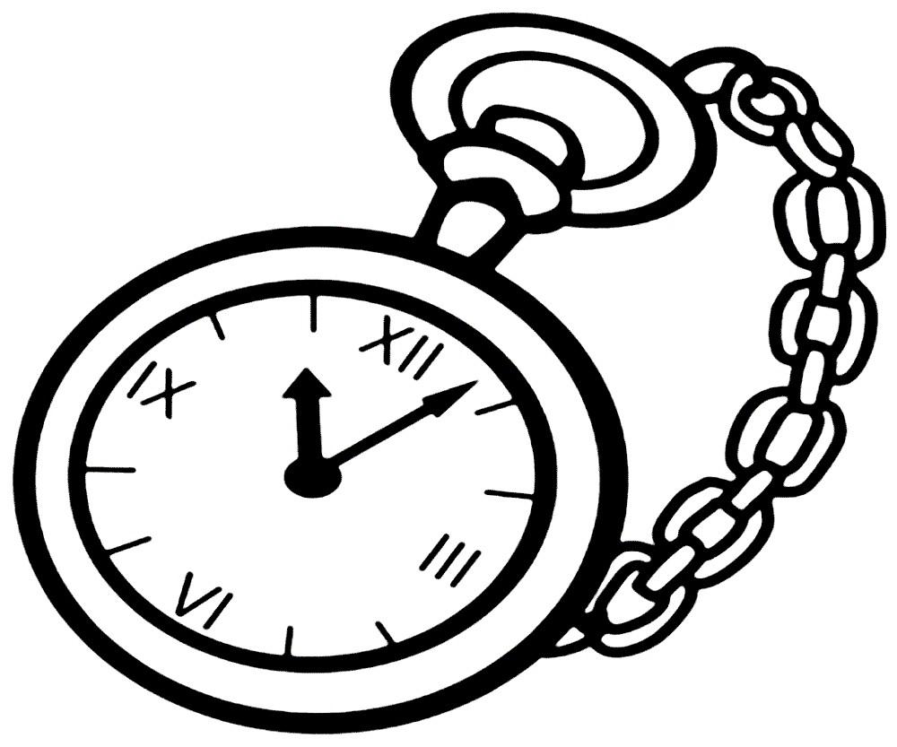 Раскраска карманные часы