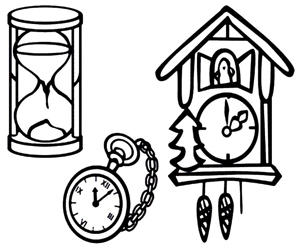 Раскраска виды часов