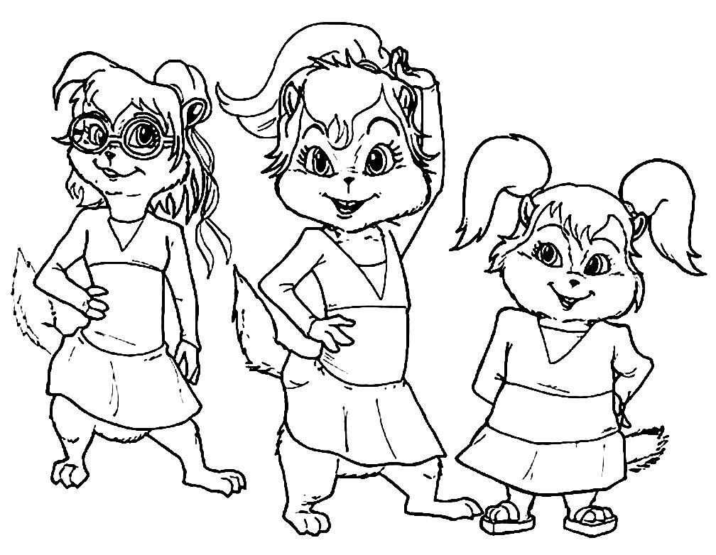 Раскраска девочки бурундуки