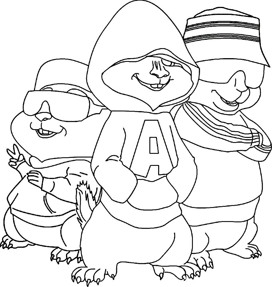Раскраска концерт бурундуков | Раскраски для детей ...