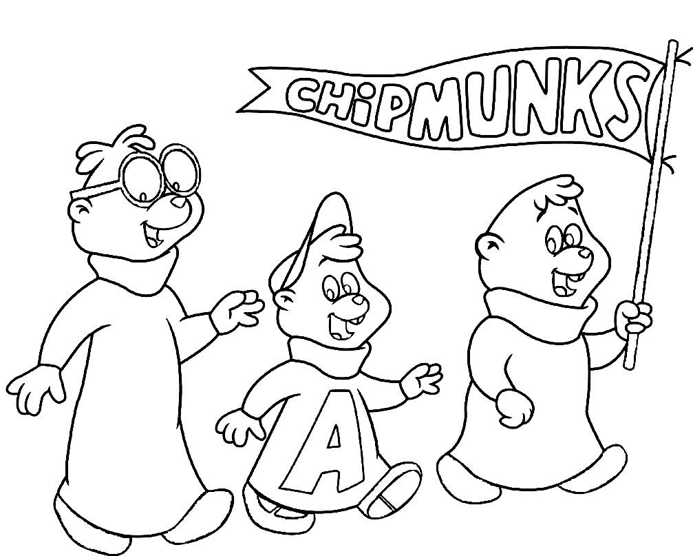 Раскраска бурундуки из мультфильма