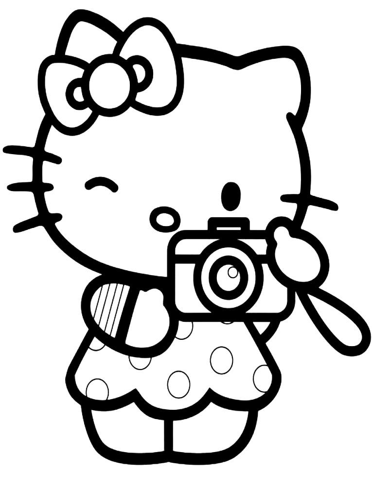 Раскраска Hello Kitty