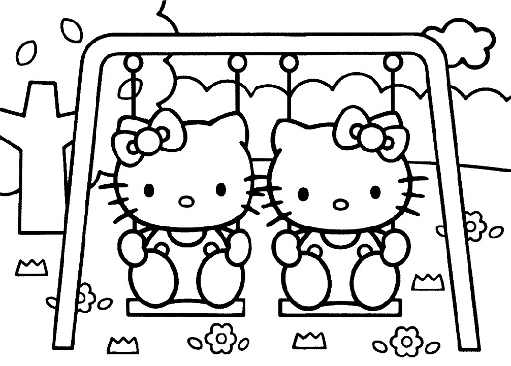 хелло китти раскраски для детей распечатать бесплатно в