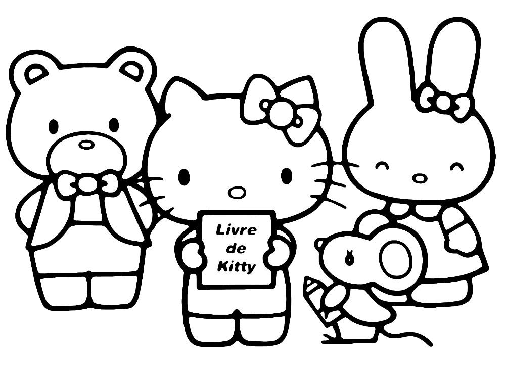 Раскраска Хелло Китти с друзьями