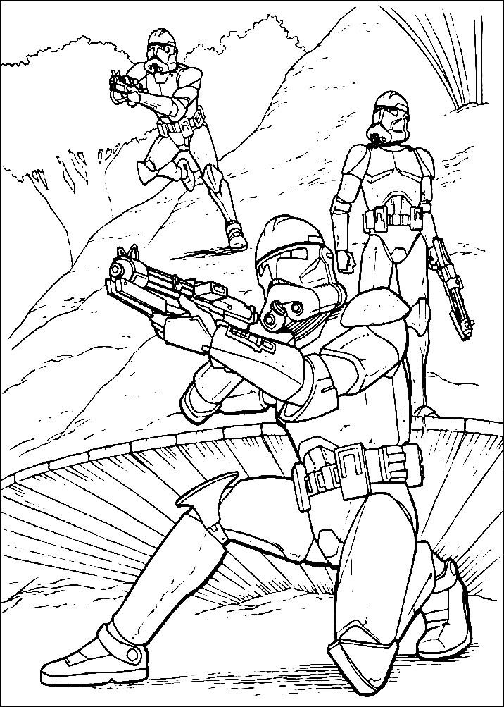 Раскраска роботы из Звездных войн