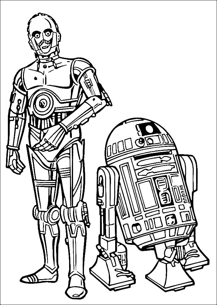 Раскраска персонажи из Звездных войн