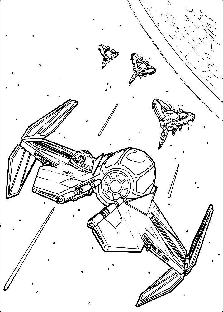 Раскраска космические корабли Джедаев
