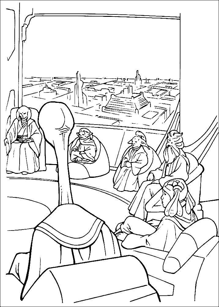 Раскраска собрание Звездных войн