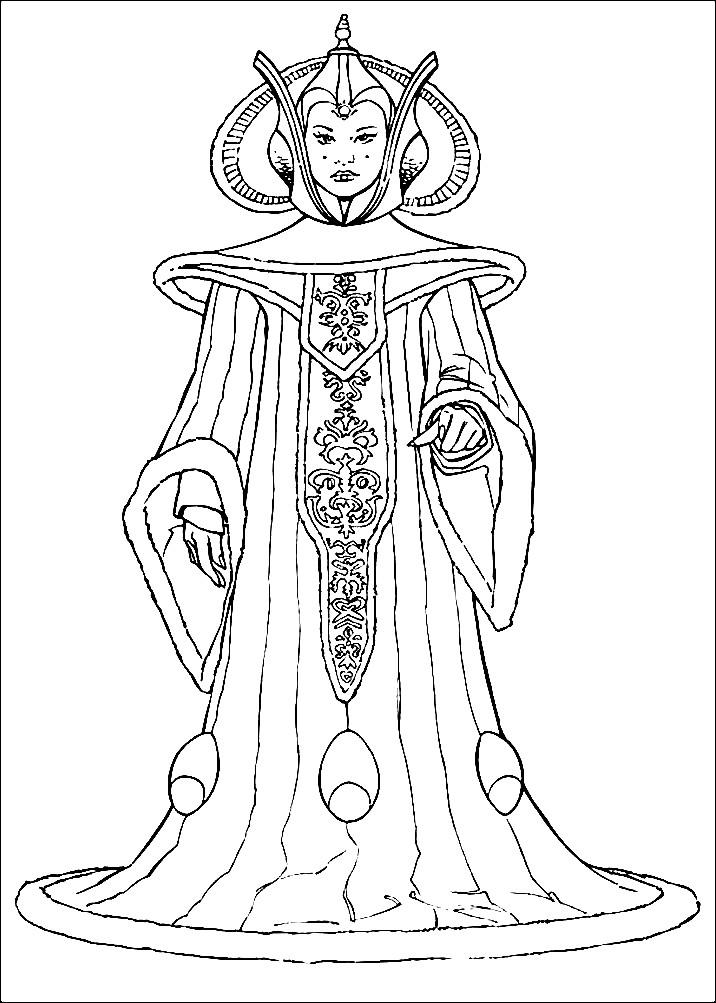 Раскраска принцесса Лея