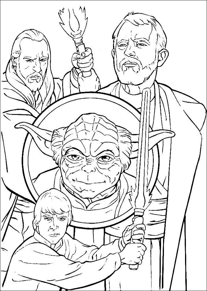 Раскраска герои из фильма Звездные войны