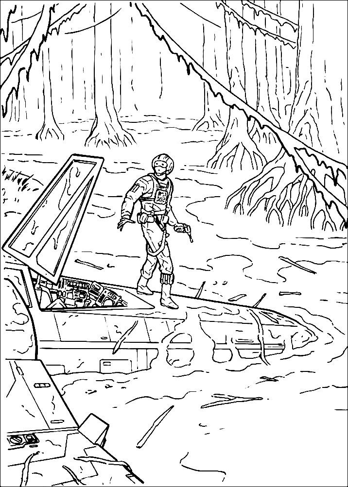 Раскраска эпизод из Звездных войн