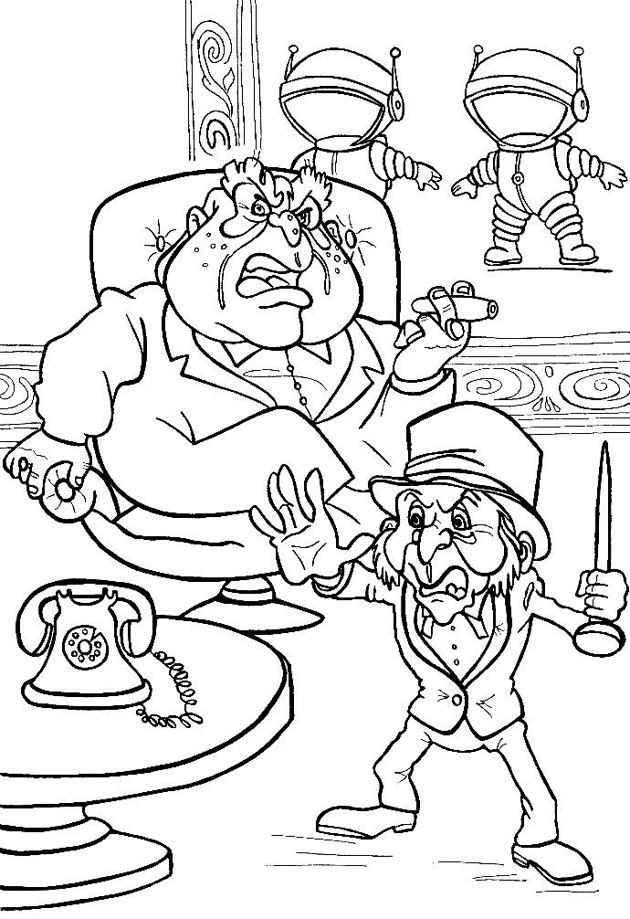 Раскраска Спрутс и Скуперфильд