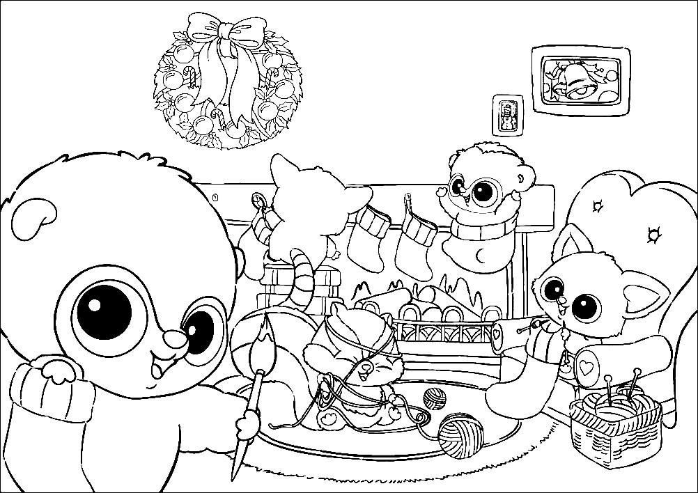 Раскраска Юху и его друзья