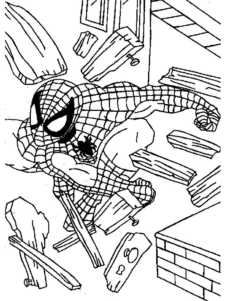 Раскраска Человек паук в ярости