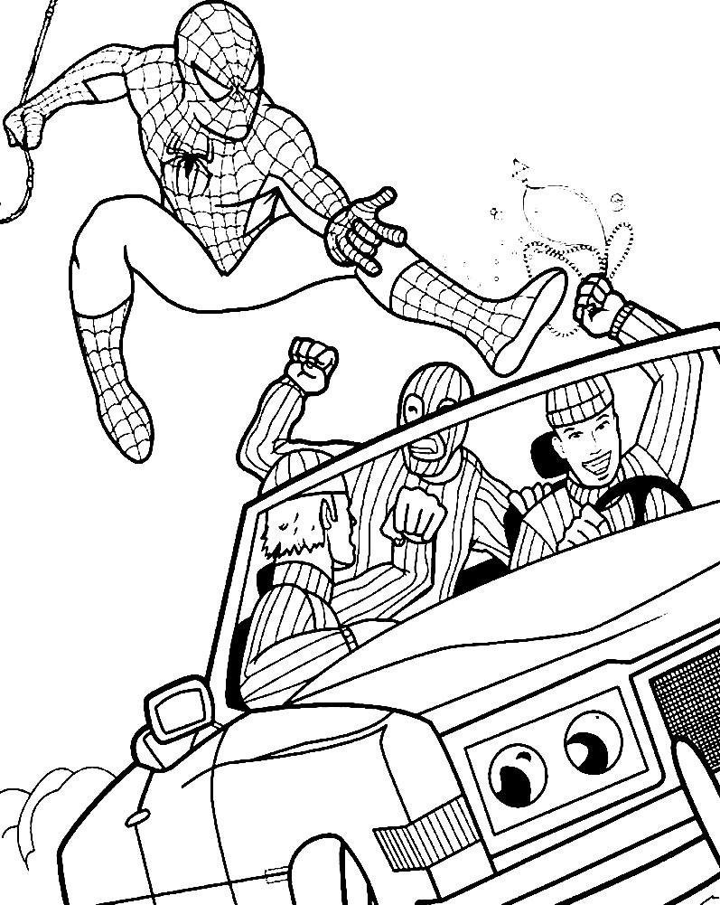Раскраска Человек паук для мальчиков | Раскраски для детей ...