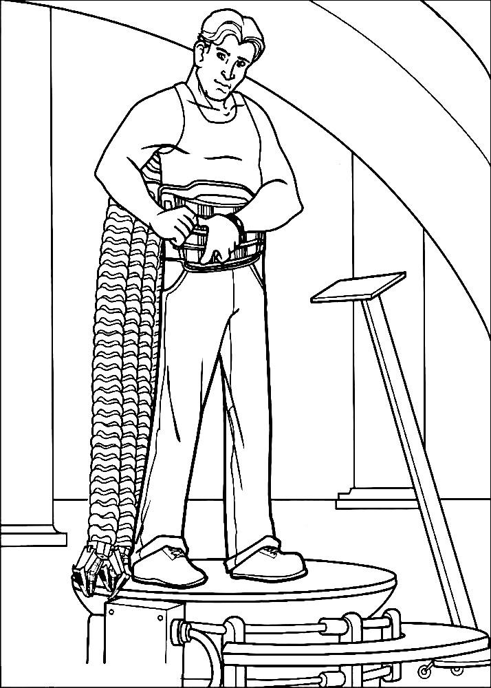 Раскраска Доктор Октопус