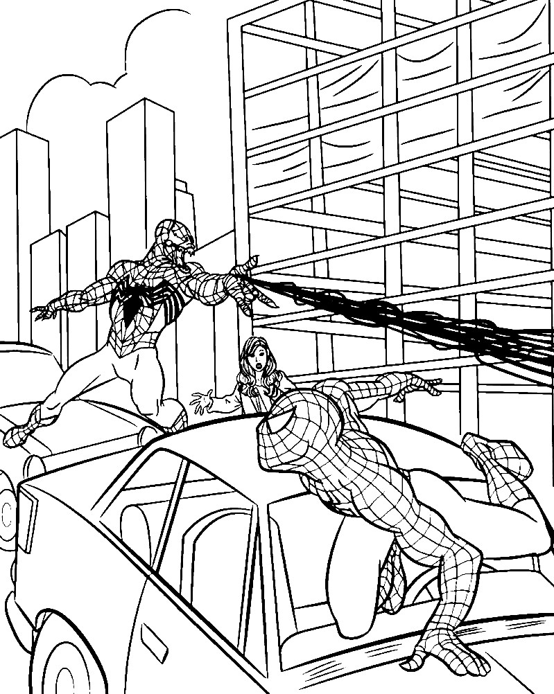 ЧЕЛОВЕК ПАУК (SPIDER MAN) | Раскраски для детей ...