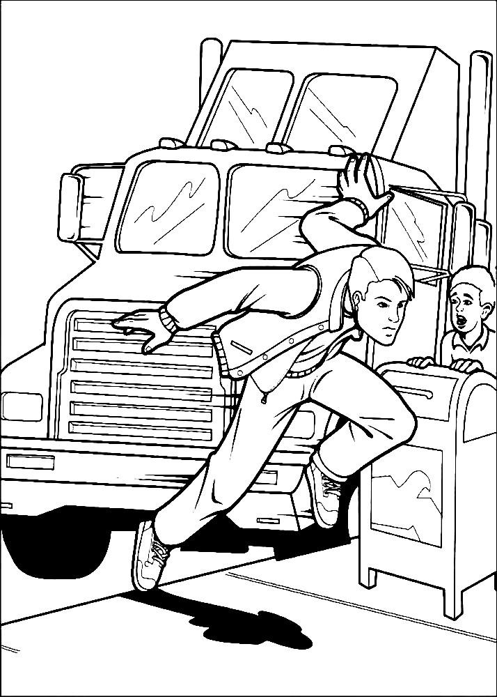 Раскраска Спайдермен без костюма