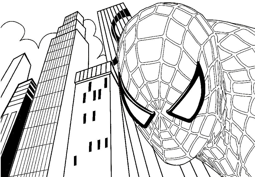 Раскраска сверхчеловек Спайдермен