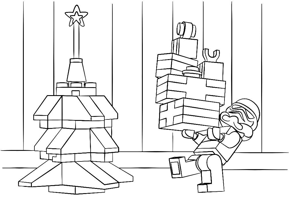 Раскраска Звезные войны — Рождество