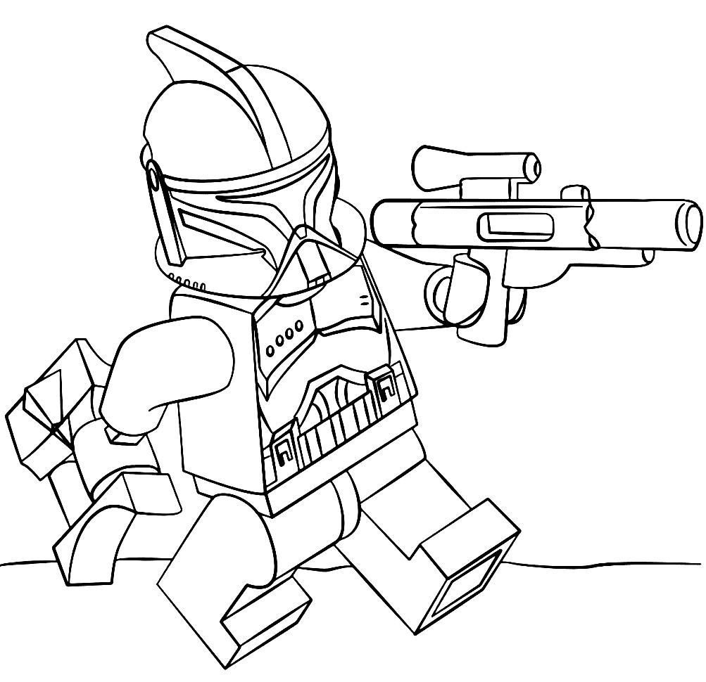 Раскраска лейтенант Клон Трупер
