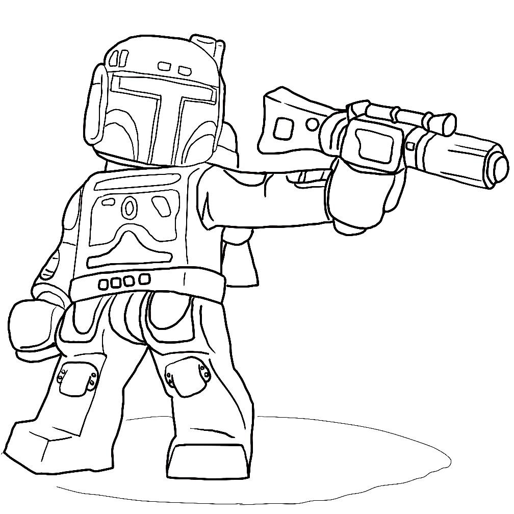 Раскраска Мандалорский солдат