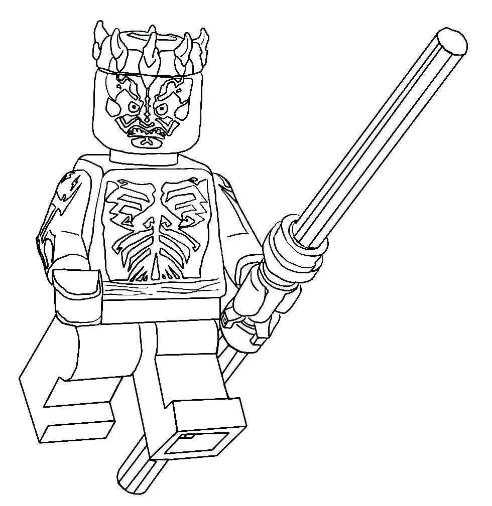 Раскраска рыцарь Джедай