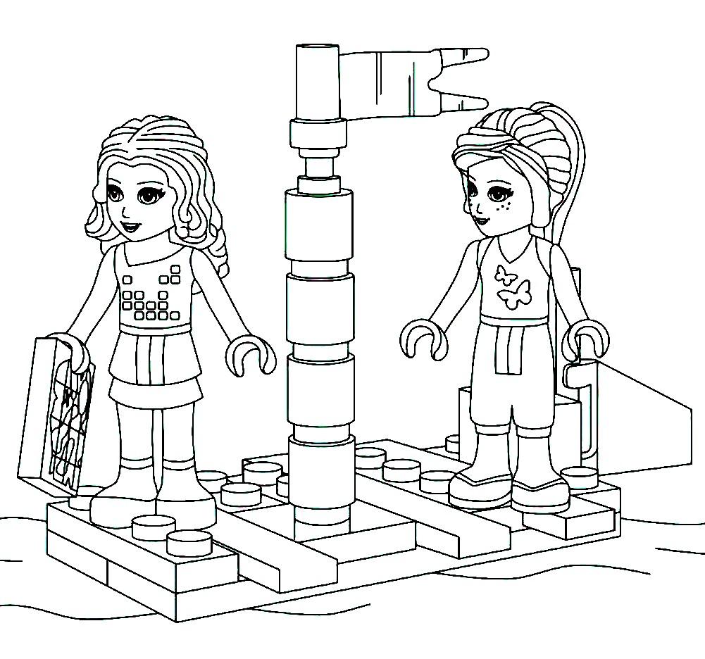 Раскраска минифигурки Лего Френдс
